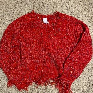 Boutique Red Sweater